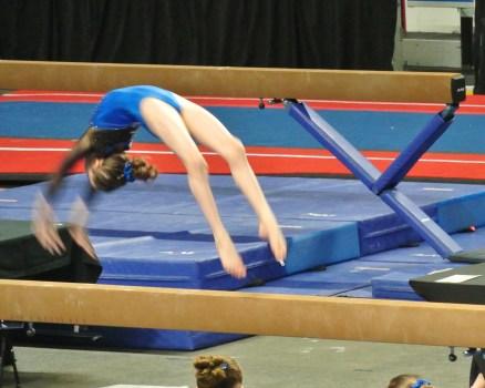Idaho State Championships Beam Back Handspring - Level 7