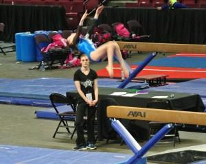 Idaho State Championships Beam Back Tuck Dismount - Level 7