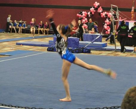 Flips Invitational 2015 Floor Dance Move - Level 7