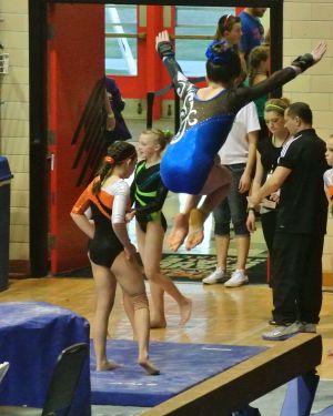 Idaho State Championships 2015 Beam Tuck Jump - Level 7