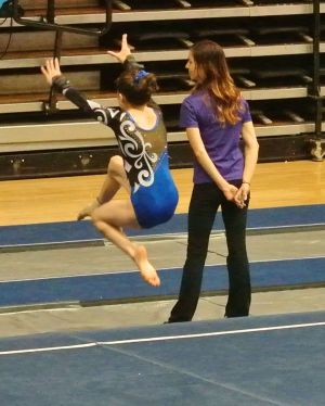 Idaho State Championships 2015 Floor Leap - Level 7