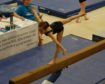 Idaho State Championships 2011 Beam Arabesque - Level 4