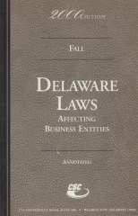 delaware laws - affecting business entities - 2000 edition