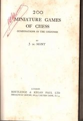 200 miniature games of chess