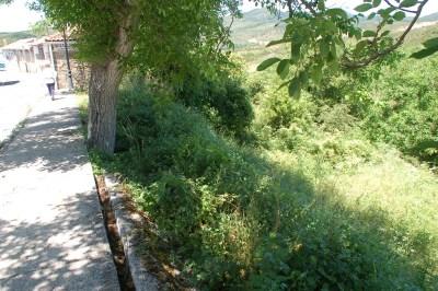 Lugar donde se relleno el foso a la entrada de la localidad por el este