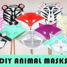 Animal Masks Meg designed for Cricut, on Meg Allan Cole Crafts