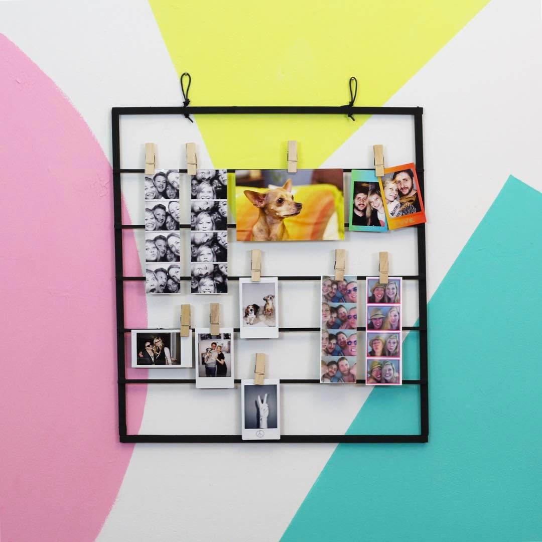 Make a modern DIY Photo Display for under $10 on @hgtvhandmade 🔴📷🔷 link in profile