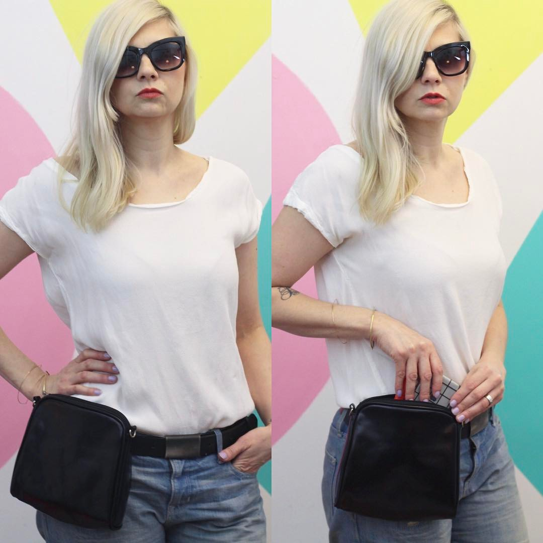 Can fanny packs be cool again? Today we find out with an @hgtvhandmade Thrift Store Hack. Vote yay or nay on this '90's trend in the YouTube comments linked in profile ◼️
