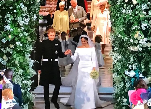 Watching the royal wedding in a puddle 😭😭😭 it's all up in my stories if you missed it
