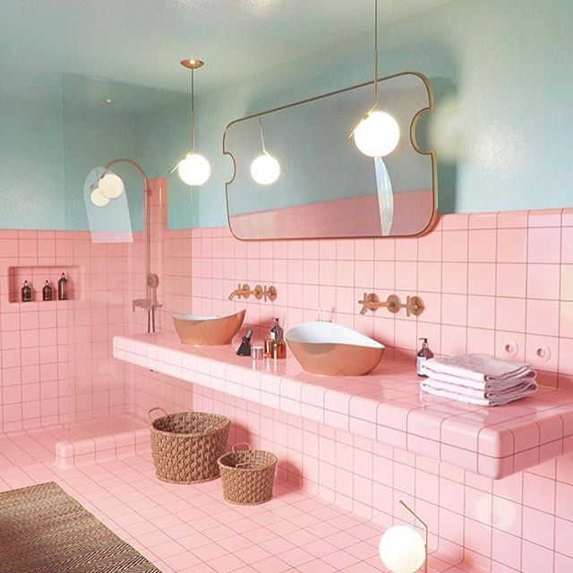 Dreamy Design || @utkang designed & renovated bathroom in Mexico || via @nataliarafalo