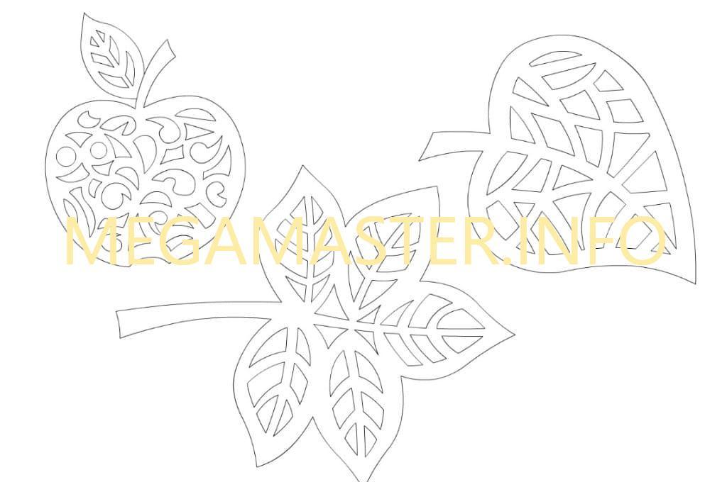 Akcaagac Yapragi Kagittan Desen Sonbahar Yaprak Desenleri