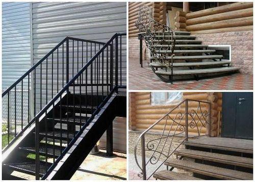 Лестница на крыльцо из металла: металлический каркас ...
