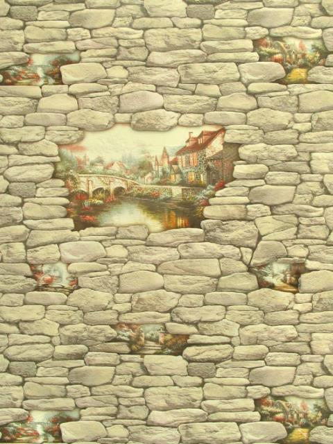 Обои под кирпич для стен в интерьере: виниловые, под ...