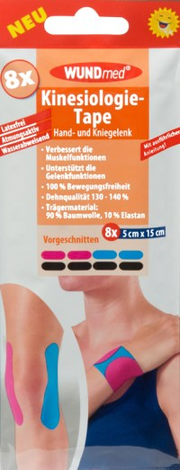 WUNDmed  Kinesiology tape voor hand- en kniegewricht