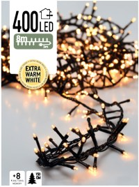 Micro Cluster 400 LED's 8 meter warm wit