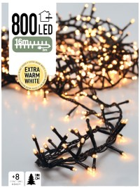 Micro Cluster 800 LED's 16 meter warm wit