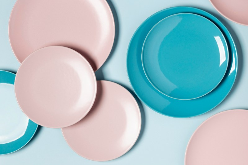 flat-lay-composition-of-different-colored-plates
