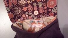 sac brun intérieur