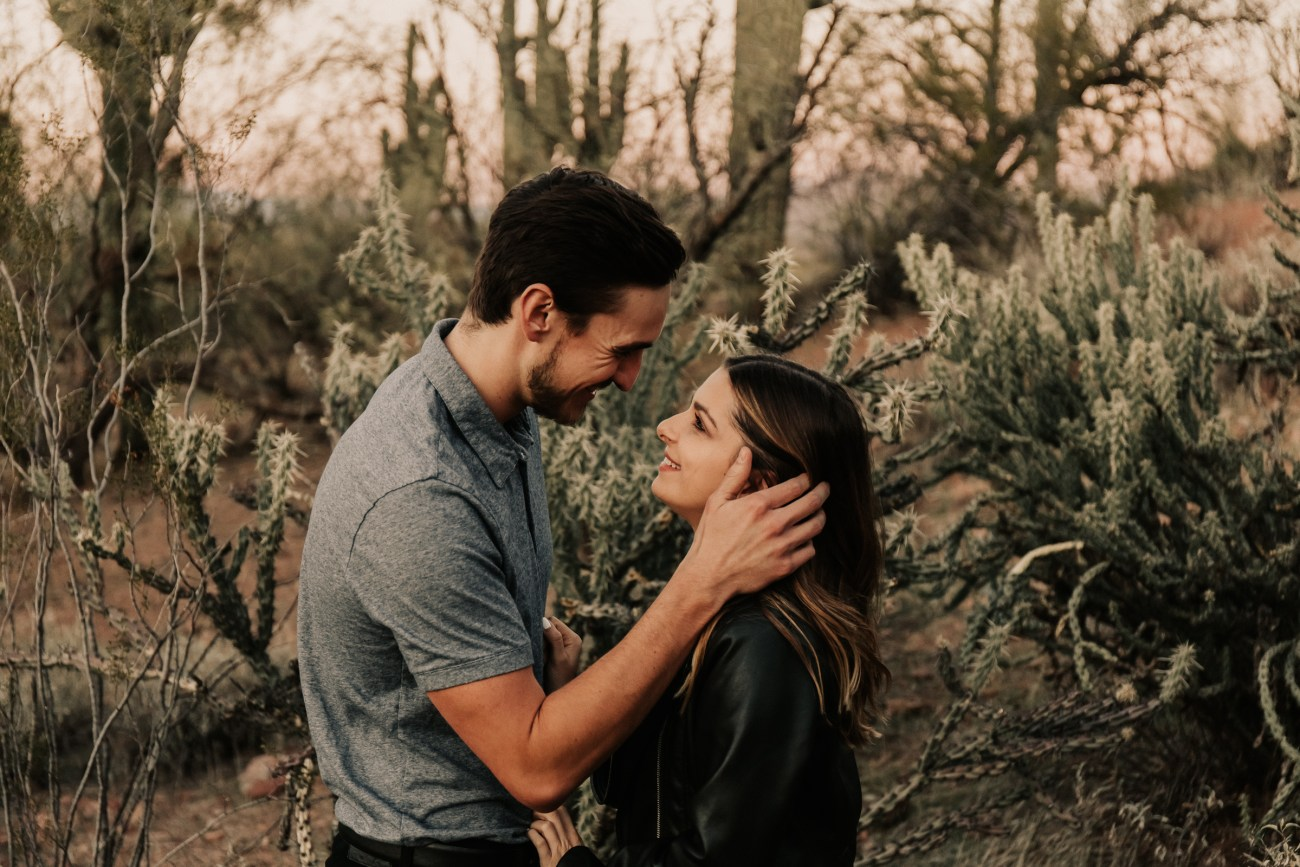 Megan Claire Photography | Arizona Wedding Photographer. Desert couples portrait photoshoot. @meganclairephoto