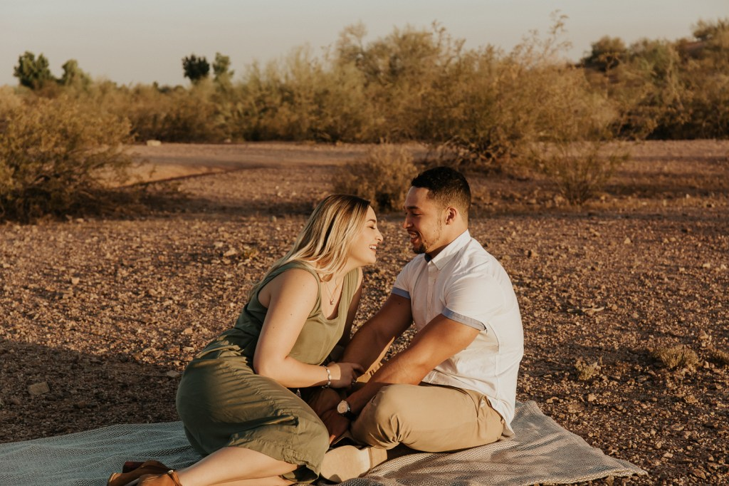 Megan Claire Photography | Arizona Wedding Photographer @meganclairephoto. Desert couples photoshoot