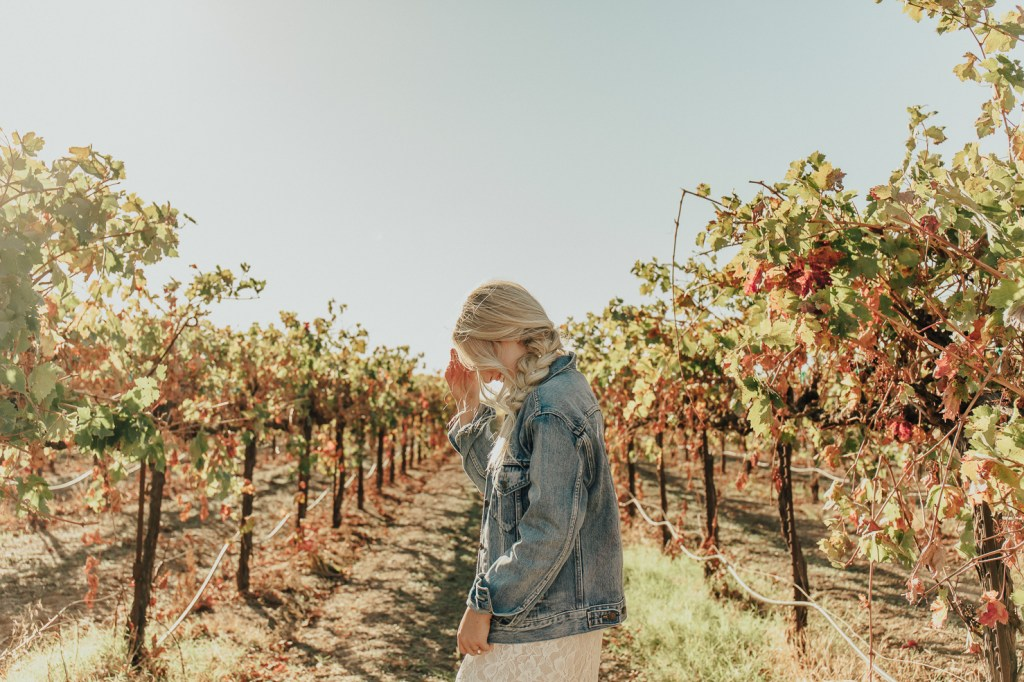 Megan Claire Photography | Northern California Wedding Photographer. Bohemian bridal portraits in vineyard @meganclairephoto