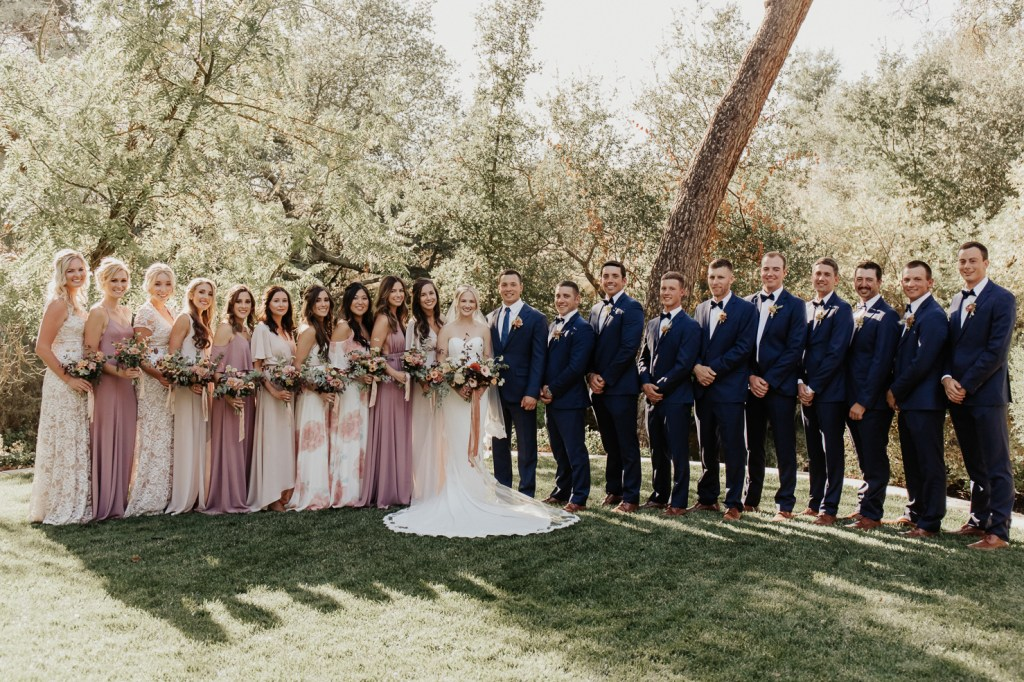 Megan Claire Photography | Northern California Wedding Photographer. Fall wedding bridal party photos. Mauve, purple and printed bridesmaid dresses from showmeyourmumu @meganclairephoto
