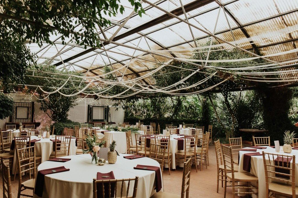 Megan Claire Photography | Arizona Wedding Photographer. Vintage inspired greenhouse arboretum wedding reception @meganclairephoto