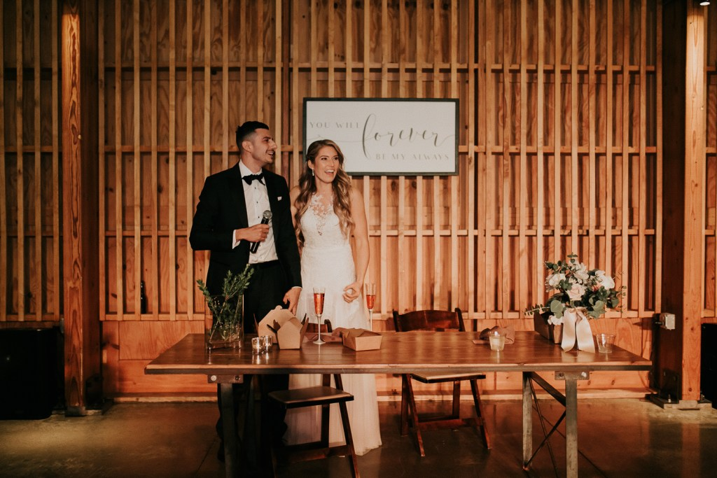 Megan Claire Photography | Arizona Wedding Photographer. Beautiful winter wedding in the desert at the Paseo in Apache Junction, Arizona near superstition mountains. Wedding toasts