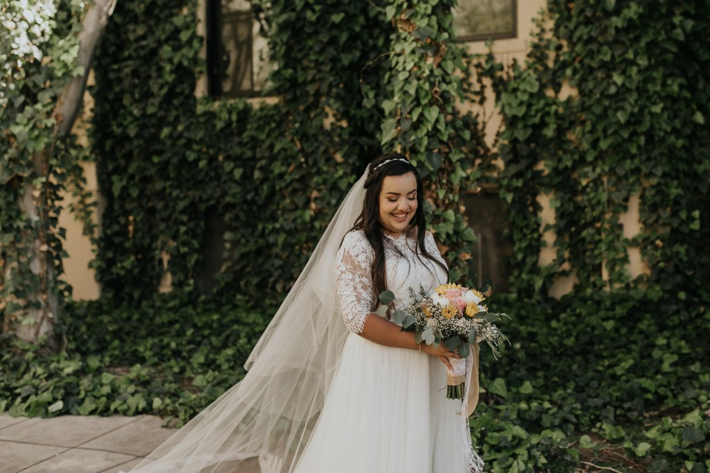 Megan Claire Photography | Arizona Wedding Photographer. Beautiful church wedding. Bride  portraits at Brophy Chapel in Phoenix Arizona