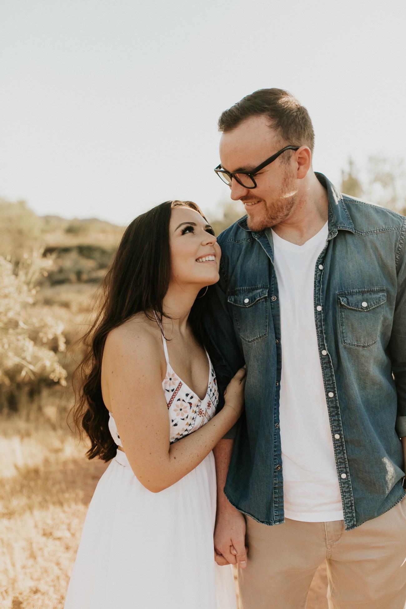 Megan Claire Photography   Arizona Wedding and Engagement Photographer.  arizona desert engagement session at sunset @meganclairephoto
