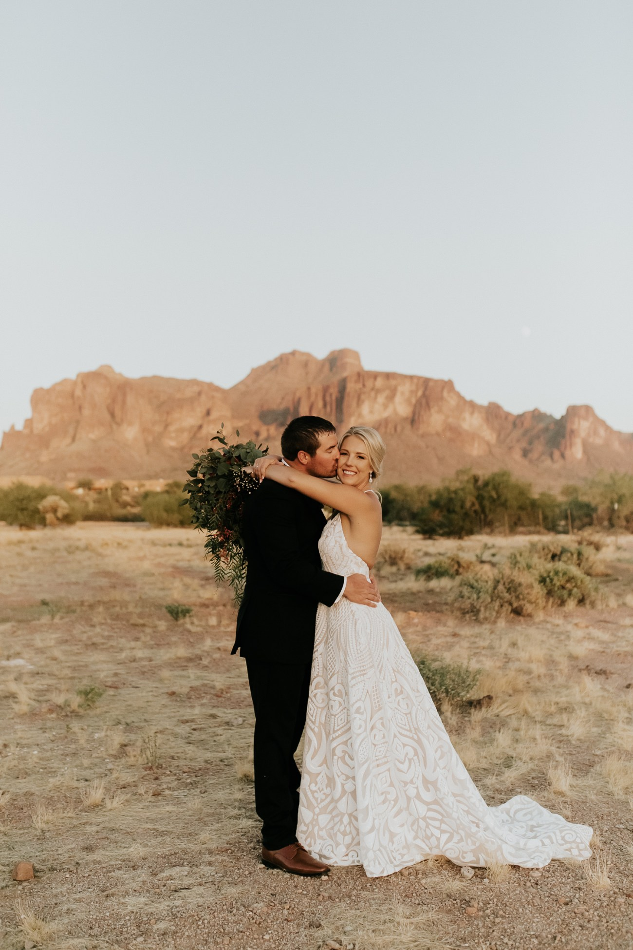 Megan Claire Photography | Arizona Wedding Photographer. Beautiful fall wedding in the desert at the Paseo in Apache Junction, Arizona near superstition mountains. desert bride and groom photos @meganclairephoto