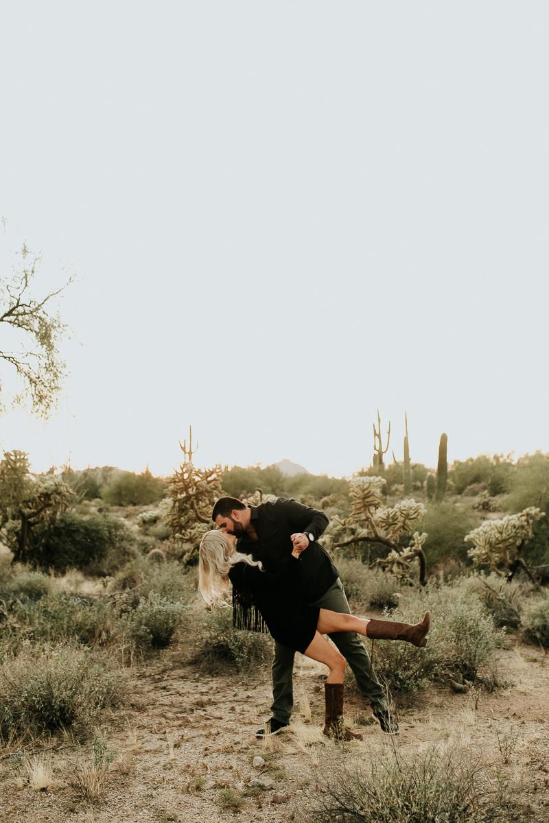 Megan Claire Photography | Arizona Wedding and Engagement Photographer. Megan-Claire.com  Arizona desert engagement session. Arizona Engagement inspiration. Couples photography. Boho roadside engagement photoshoot. @meganclairephoto