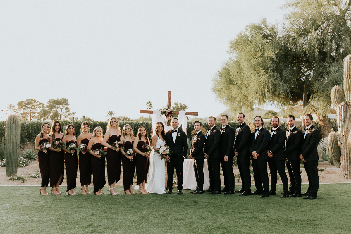 Megan Claire Photography | Arizona Wedding Photographer. Megan-Claire.com  Scottsdale Arizona Resort Wedding at Andaz Resort. Wedding bridal party photos @meganclairephoto