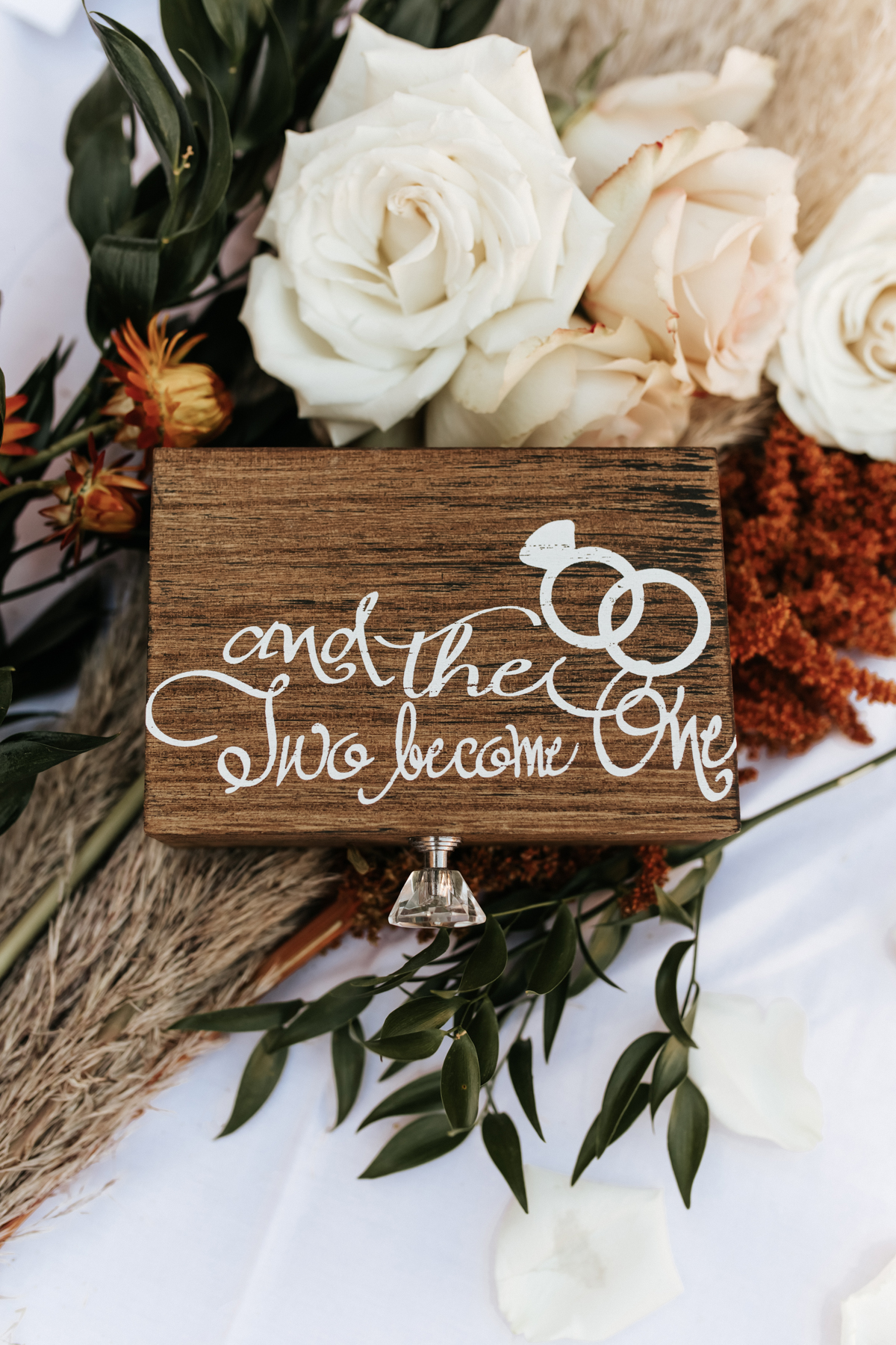 Megan Claire Photography | Boho Desert Wedding details at Superstition Mountains