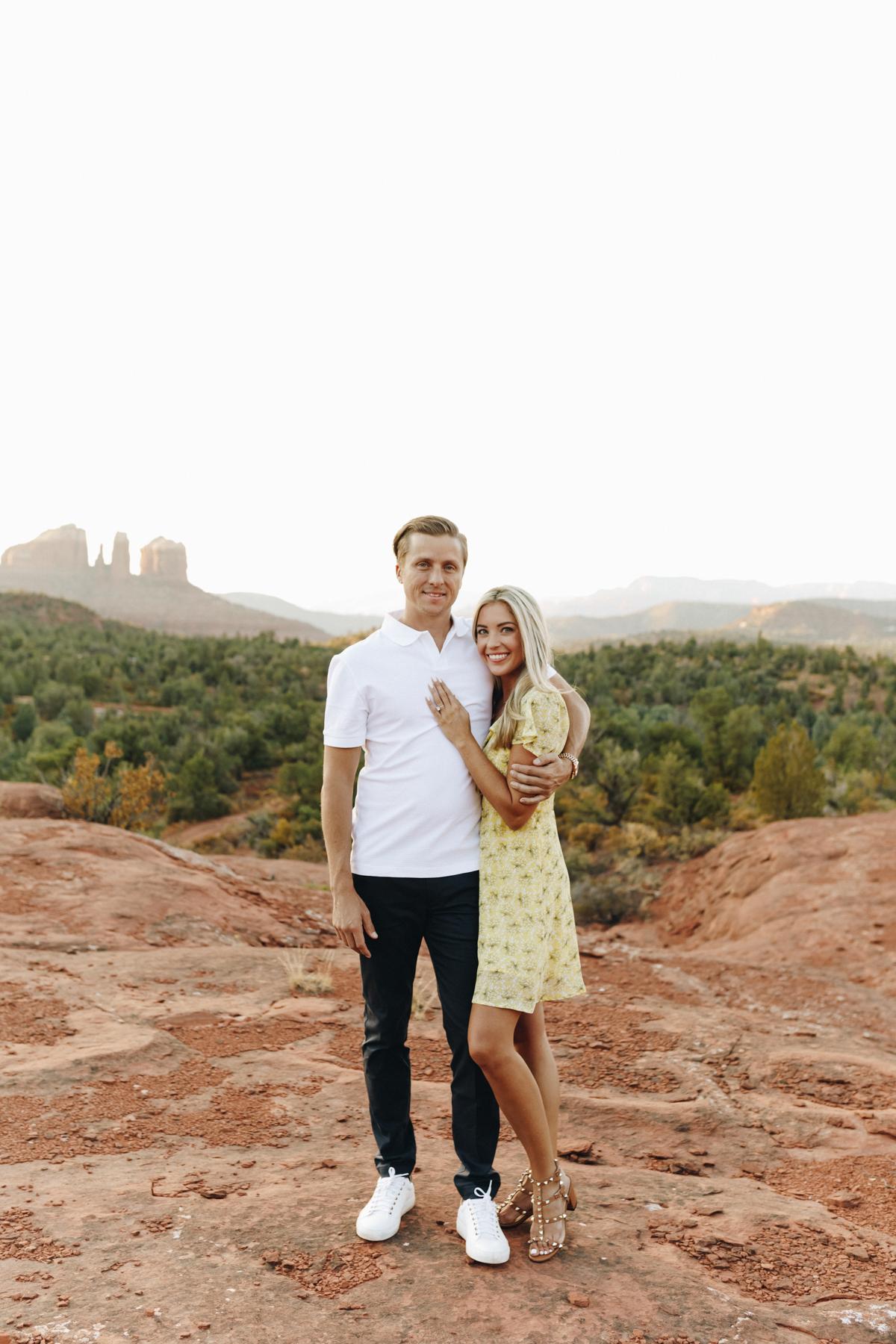 Megan Claire Photography   Adventurous Sedona Arizona Engagement Session