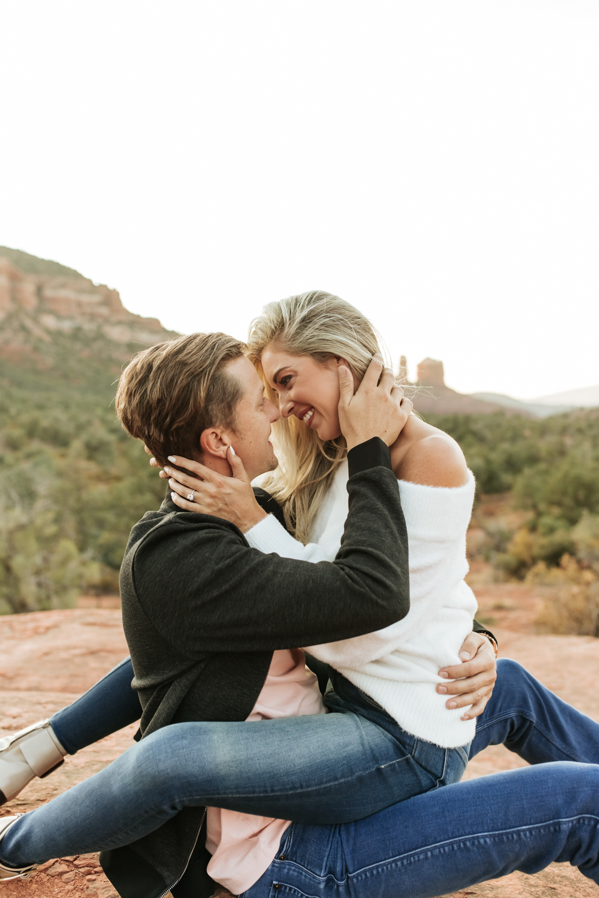 Megan Claire Photography | Adventurous Sedona Arizona Engagement Session