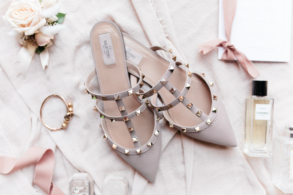 Megan Claire Photography | Arizona Wedding Photographer.  Elegant Scottsdale Backyard Wedding. Valentino wedding shoes