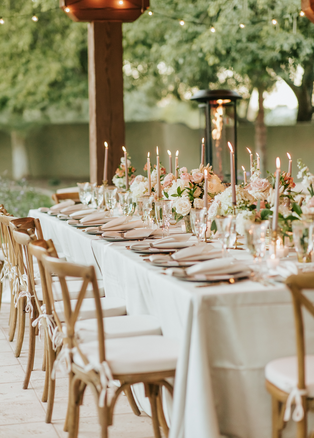 Megan Claire Photography | Arizona Wedding Photographer.  Elegant Scottsdale Backyard Wedding Reception Details