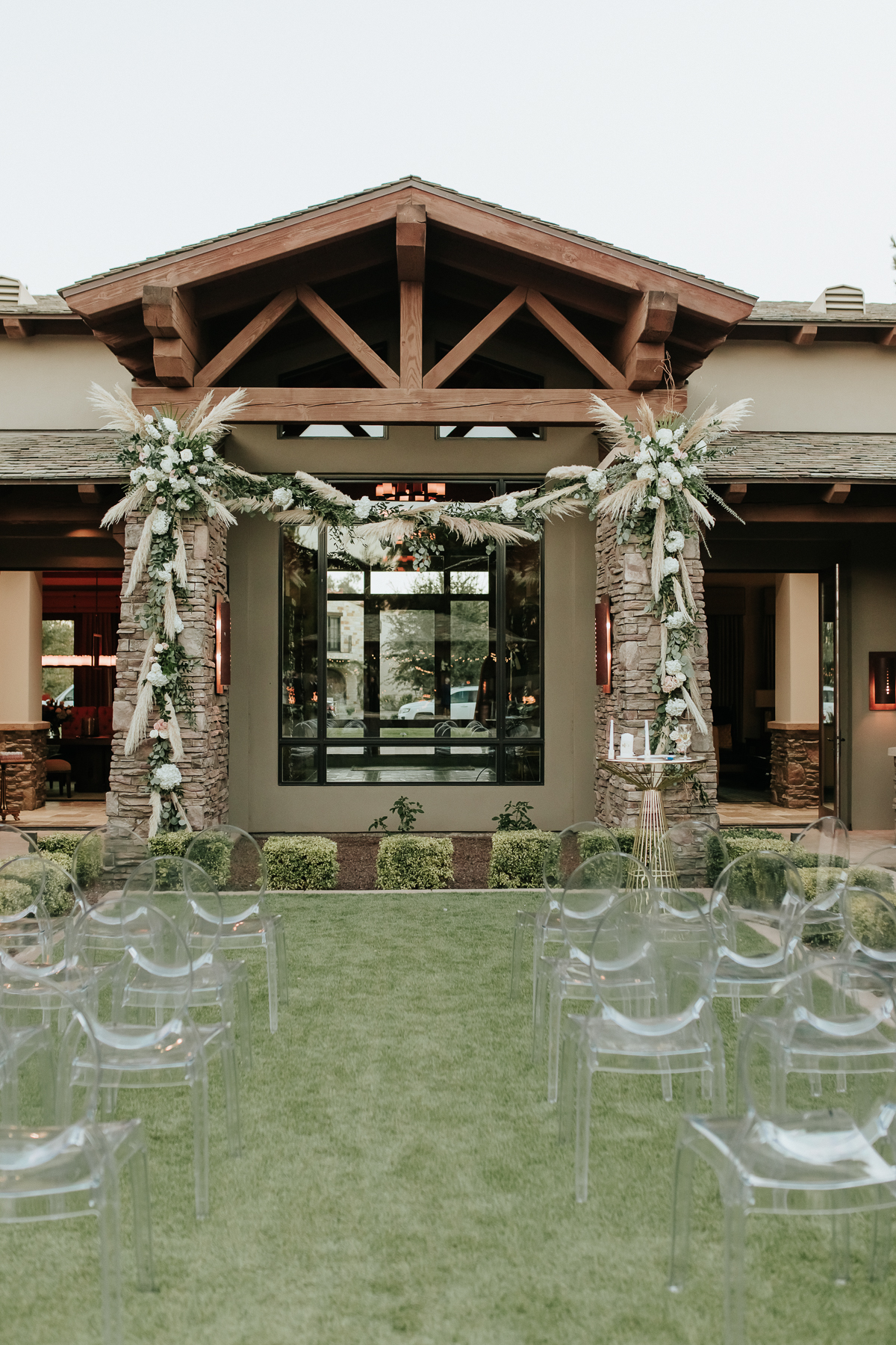 Megan Claire Photography | Arizona Wedding Photographer.  Elegant Scottsdale Backyard Wedding. Ceremony site