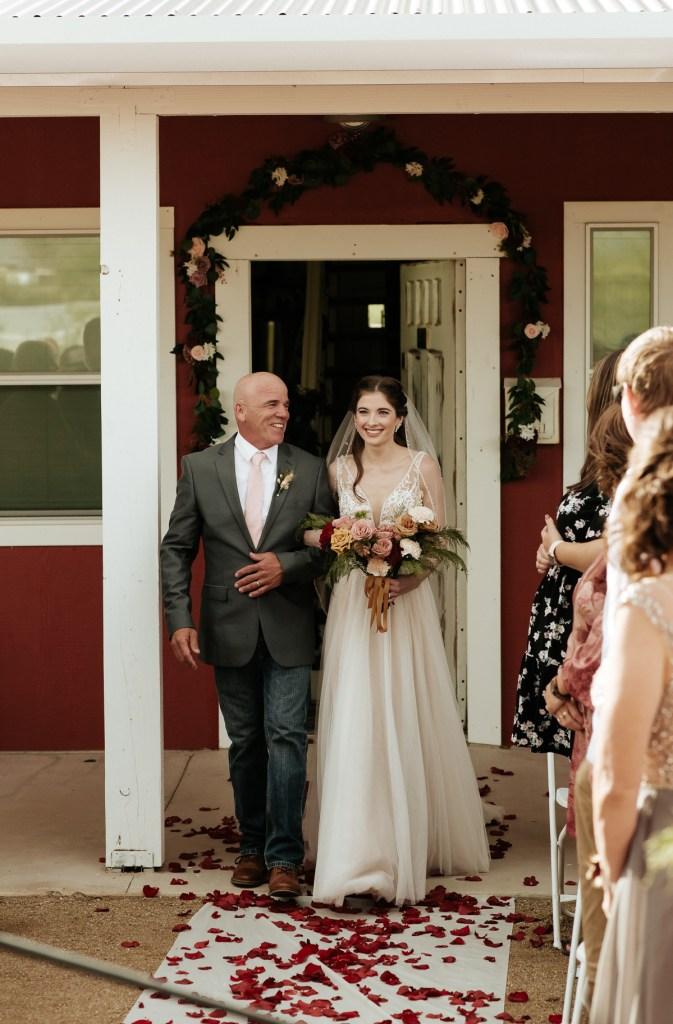 Megan Claire Photography | Arizona Wedding Photographer.  Rustic Glam Backyard Wedding. Outdoor Scenic Ceremony