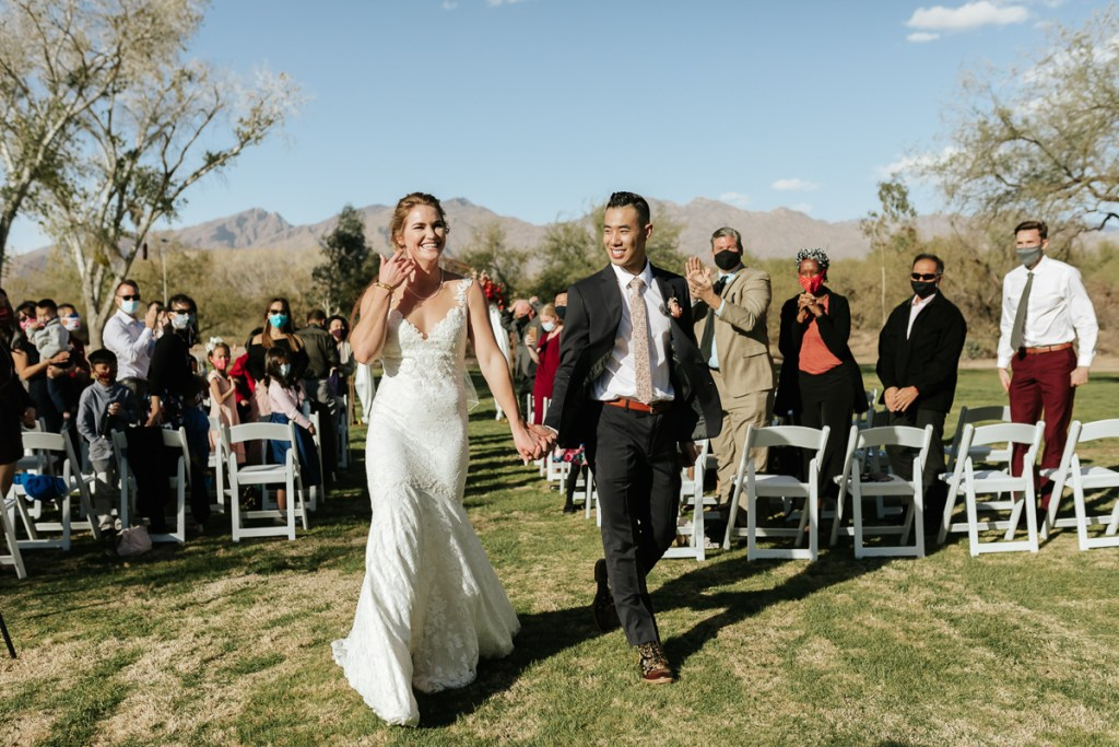 Megan Claire Photography | Arizona Elopement and Intimate Wedding Photographer.  Faith filled elopement at St. Ann's Chapel in Tucson, Arizona. Emotive Ceremony Photos