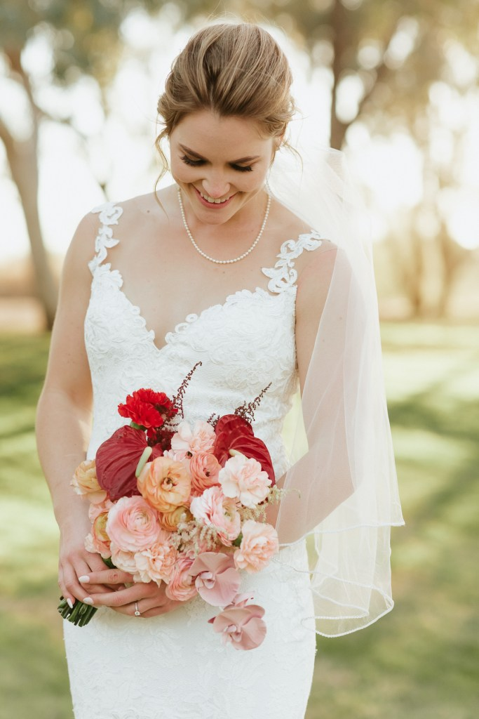 Megan Claire Photography | Arizona Elopement and Intimate Wedding Photographer.  Faith filled elopement at St. Ann's Chapel in Tucson, Arizona. Bride Wedding Portraits