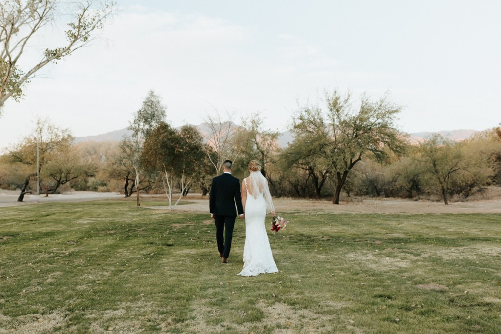 Megan Claire Photography | Arizona Elopement and Intimate Wedding Photographer.  Faith filled elopement at St. Ann's Chapel in Tucson, Arizona. Bride and Groom Wedding Portraits