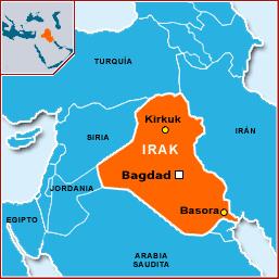 Map Irak