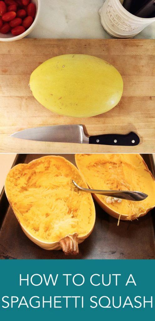 how to cut a spaghetti squash