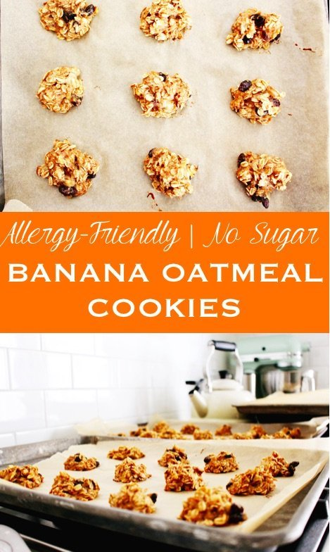 no sugar banana oatmeal cookies