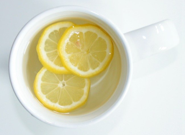 drink hot lemon water