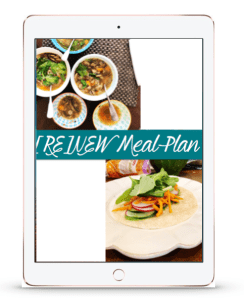 RENEW one week meal plan - preview