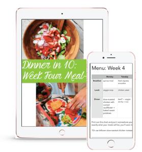 Dinner in 10 - week 4 preview