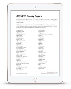sneaky sugars